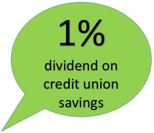 1% dividend